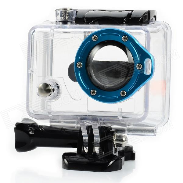Miniisw C-2A1 Waterproof Case w/ Individual Aluminum Alloy Ring / Glass Lens for Gopro Hero2