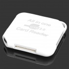 5-in-1 TF / SD / Mini SD / MS / M2 Card Reader for Samsung Galaxy S3 / S4 / Notebook - White