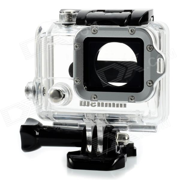 Miniisw C-3A3 45m Waterproof Case w/ Aluminum Alloy Strap Ring / Glass Lens for Gopro Hero3 / 3+