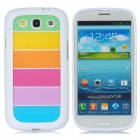 Rainbow Pattern Protective PC + PVC Back Case for Samsung i9300 - Multicolored