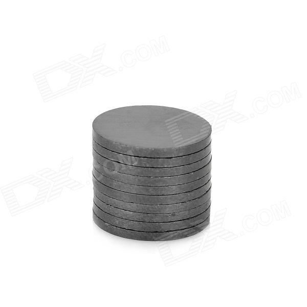 15 x 1.2mm Round Ferrite Magnet - Black (10 PCS)