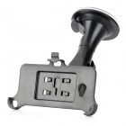 Suction Cup Mount Holder Stand w/ Retractable Cable Car Charger for HTC One / M7 - Black