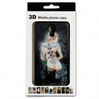 Protective 3D Tattoo Beauty Pattern Plastic Back Case for Samsung Galaxy S4 / i9500 - Black