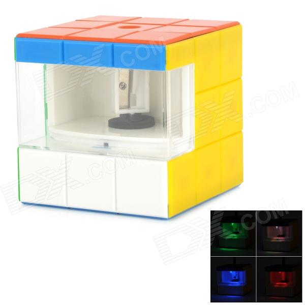 Creative Magic Cube Style USB Powered Automatic Pencil Sharpener - Multicolored (2 x AA)