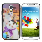 Cute 3D Kitty Pattern Protective Plastic Back Case for Samsung Galaxy S4 i9500 -Multicolored