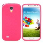 Stylish Scale Pattern Flexible Protective Silicone Back Case for Samsung Galaxy S4 i9500 - Rosy