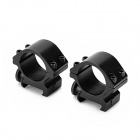 25mm Universal Aluminum Alloy Gun Mount Holder Clip Clamp - Black ( 2 PCS)