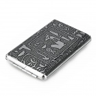 Mysterious Egyptian Glyphs Stainless Steel Cigarette Case - Black + Gray