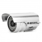 TB-60Y70A 1/4 CCD Surveillance Security Camera with 36-LED IR Night Vision - Silver (PAL)