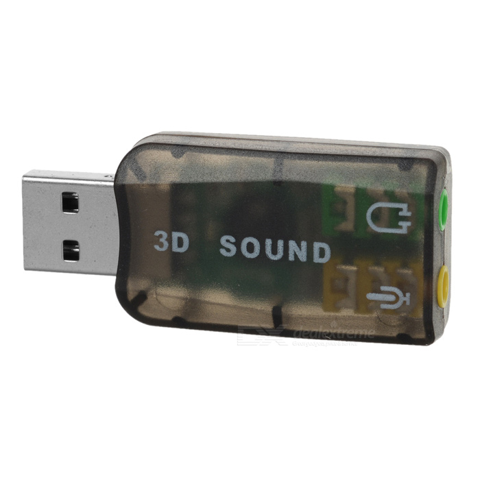 HY554 Virtual 5.1-Surround USB 2.0 placa de som externa