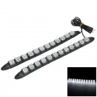 Flexible 6W 264lm 12-SMD 5050 LED White Car Decorative Daytime Running Light (12V / 2 PCS)