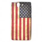 Retro Flag of The United States Pattern PVC Back Case for Sony Xperia Z / L36H - Multicolored