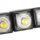 Flexible 5W 220lm 10-SMD 5050 LED White Car Decorative Daytime Running Light (12V / 2 PCS)
