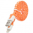 Polka Dot Style USB to 8-Pin Lightning Data / Charging Cable for iPhone 5 - Orange + White