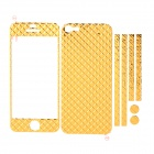 Checked Style Full Body Stickers Set for Iphone 5 - Golden
