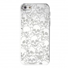 Skull Style Plastic Plating Protective Case for Iphone 5 - Silver