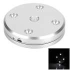 TUODI USB Rechargeable 0.3W 50lm 4-LED White PIR Motion Sensor Lamp - Silver (5V)