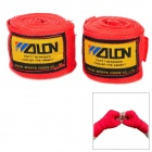 Sport Boxing / MMA Cotton Wrist Protection Hand Band - Red + Yellow (2 PCS / 2.5m)