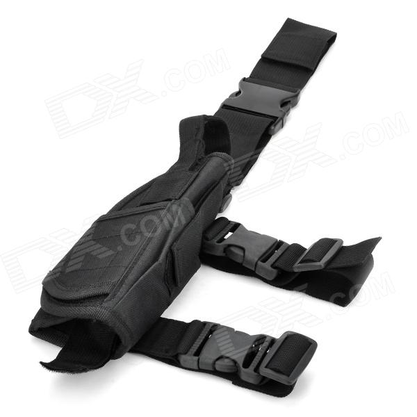 Universal Durable Adjustable Nylon Leg-mounted Gun Holster for Pistol - Black кобура asg набедренная для m92 g17 18 sti cz steyr bersa цвет tan 17023