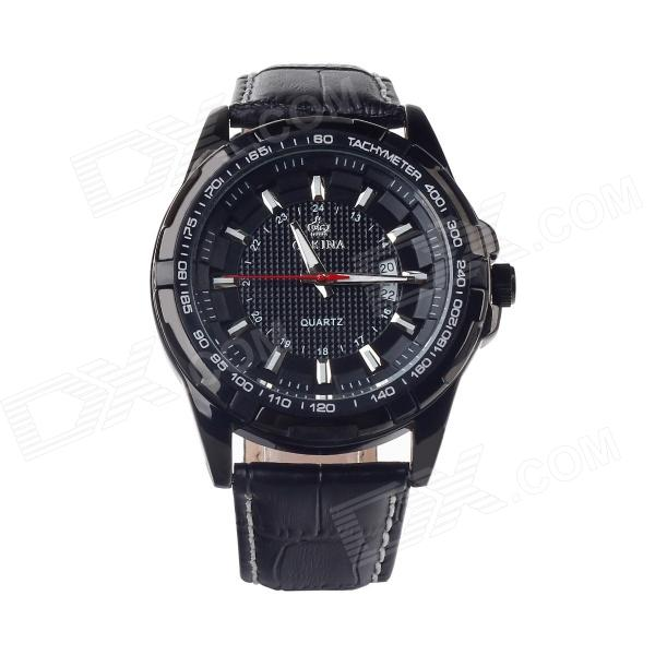 MG.ORKINA MG025-R Stylish Men's Quartz Analog Wrist Watch w/ Calendar - Black (1 x LR44)