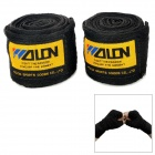 Sport Boxing / MMA Cotton Wrist Protection Hand Band - Black + Yellow (2 PCS / 2.5m)