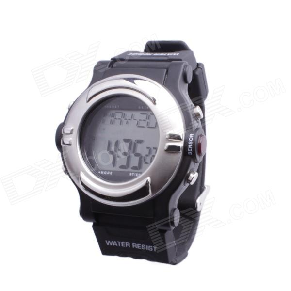 SB-013 Smart Electronic Heart Rate Calories Counter Sports Watch - Silver + Black (1 x CR2032)
