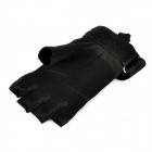 Sports de plein air vélo / alpinisme Windproof Nylon moitié-Finger Gloves - Black (paire / taille-L)