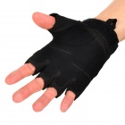 Outdoor Sports Cycling / Mountaineering Windproof Nylon Half-Finger Gloves - Black (Pair / Size-L)