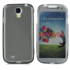 Protective PVC + PC Back Case w/ Stand Holder for Samsung i9500 - Transparent Grey