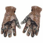 XQQ-ST-32 Biomimetic Double-Layer Full-Finger Windproof Gloves - Black + Camouflage (Pair / Size-L)