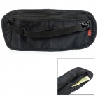 NatureHike Handy Ultra-slim Nylon Anti-theft Waist Wallet w/ Adjustable Band - Black