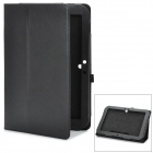 Protective PU Leather Cover Case Stand for Google Nexus 10 - Black