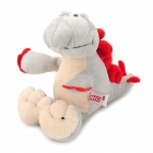9520 Cute Cartton Baby Dinsaur Style Stuffed Short Plush Doll Toy - Gray + Yellow + Red