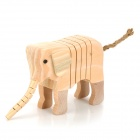 Cute Wooden Elephant w/ DIY Painting Tool Set - Beige