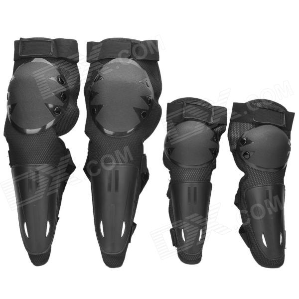 Outdoor Motorcycle Racing PE + EVA Elbow / Knee Protectors Guards Set - Black thor force knee guards
