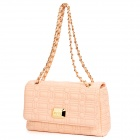 JUST STAR 170631-01 Fashionable Women's Thread Plaid Pattern PU Leather Sling Bag - Pink