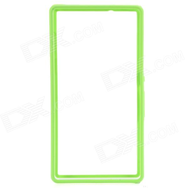 Protective Plastic Bumper Case for Sony L36h/Xperia Z - Green + Transparent