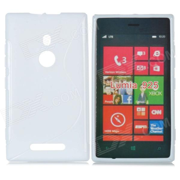 S-Shape Pattern Protective Plastic Back Case for Nokia Lumia 925 - White