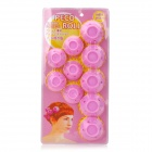 Fashion Folding Soft Silicone Hair Curler Roller - Pink (10 PCS)