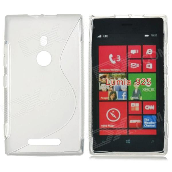 S-Shape Pattern Protective TPU Back Case for Nokia Lumia 925 - Translucent protective tpu case for nokia 925 black