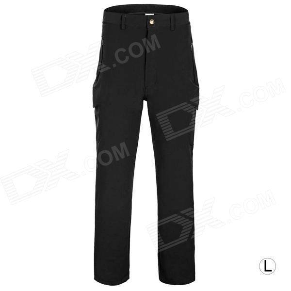 Outdoor Men's Quick Dry Hiking Trekking Trousers - Black (Size-L)