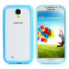 Protective PC+PVC Bumper Case for Samsung Galaxy S4 / i9500 - Deep Blue + Light Blue