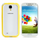 Protective_PC + PVC_Bumper_Case_for_Samsung Galaxy S4/I9500 - желтый + белый