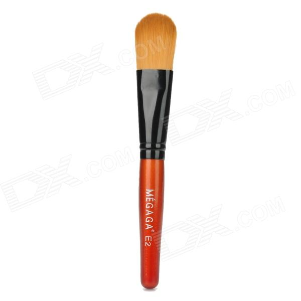 MEGAGA Professional Cometic Makeup Foundation Brush - Orange + Black