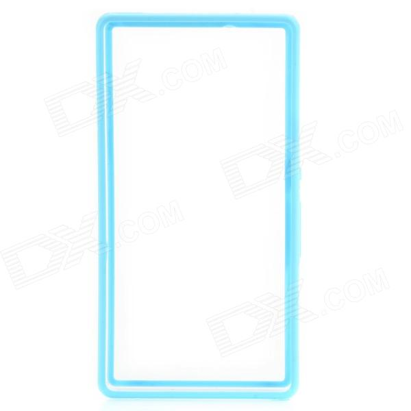 Protective Plastic Bumper Case for Sony L36h/Xperia Z - Light Blue + Transparent - DXPlastic Cases<br>Brand no Quantity 1 Piece Color Light Blue + Transparent Material Plastic Compatible Models Sony L36h/Xperia Z Other Features Personalize your phone and protect your phone frame from scratch dust and shock Packing List 1 x Bumper case<br>
