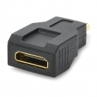 1080p V1.4 Micro HDMI Male to Mini HDMI Female Adapter - Black + Golden