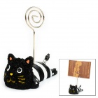 Cute Cat Style Reminder / Memo / Card Clip - Black + White