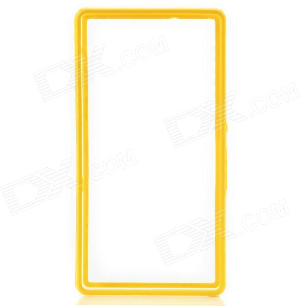 Protective Plastic Bumper Case for Sony L36h/Xperia Z - Yellow + Transparent protective plastic case for motorola razr xt910 yellow