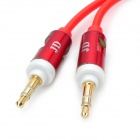 MM-35 Spring 3.5mm Male to Male Audio Cable - Red + White (200cm)