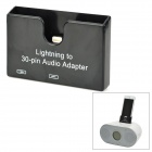 Compact Lightning In 30pin / Micro USB Audio-Adapter für iPhone 5 / iPod Touch 5 - Schwarz